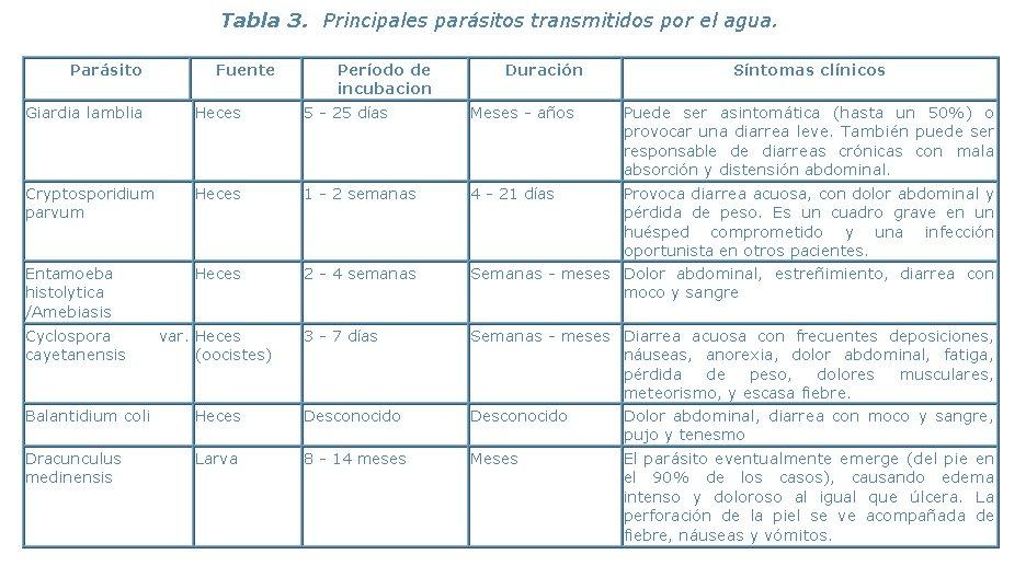 enfermedad hidricas: